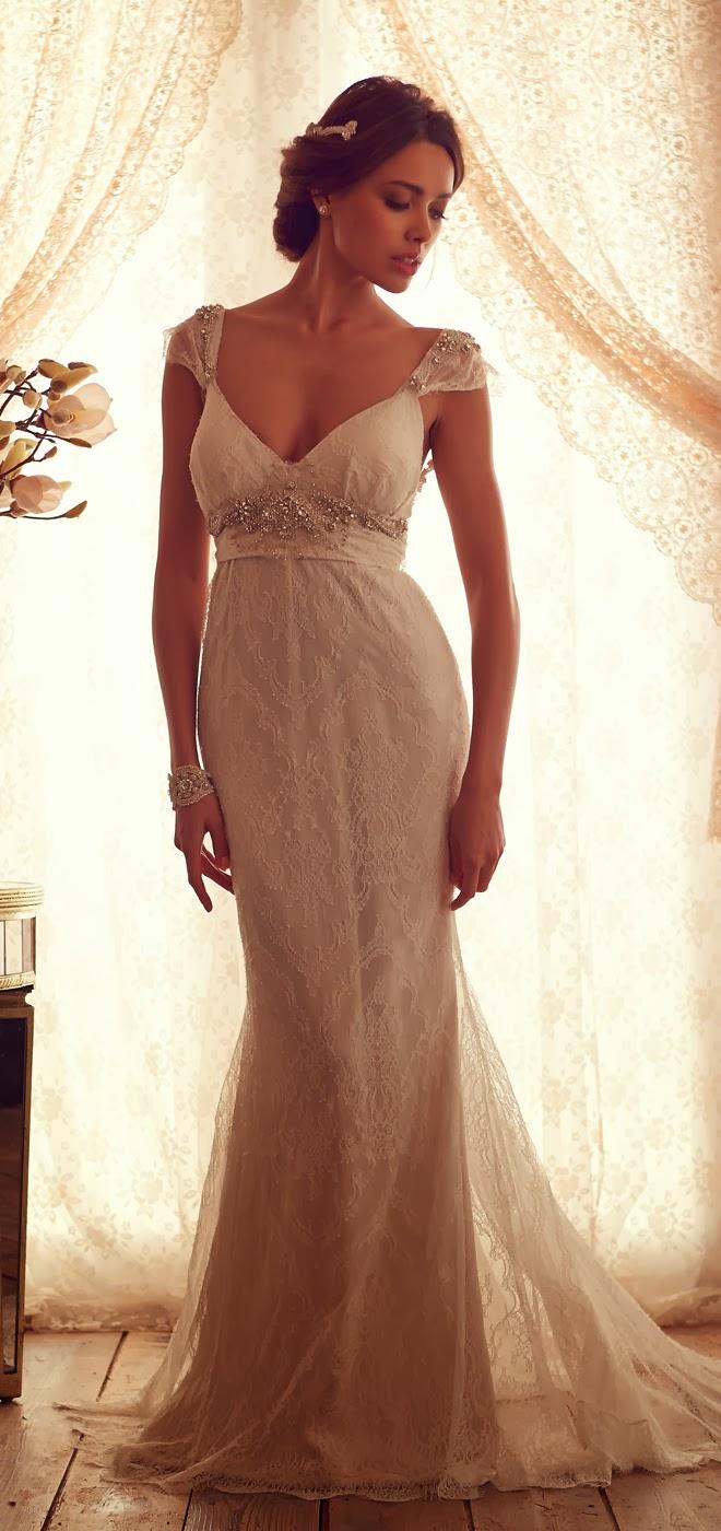 Precioso vestido de novia   Colección Anna Campbell   Somos Novias