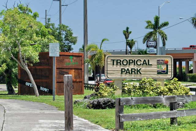 Entrada do Parque Tropical Park em Miami