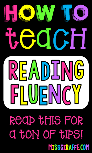 Amazing tips for how to teach reading fluency strategies, activity ideas, and so much more!