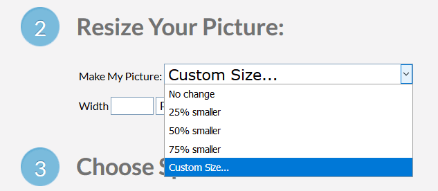 Setting custom size