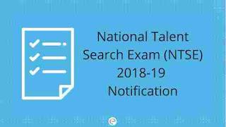 NTSE Form Online 2018-19