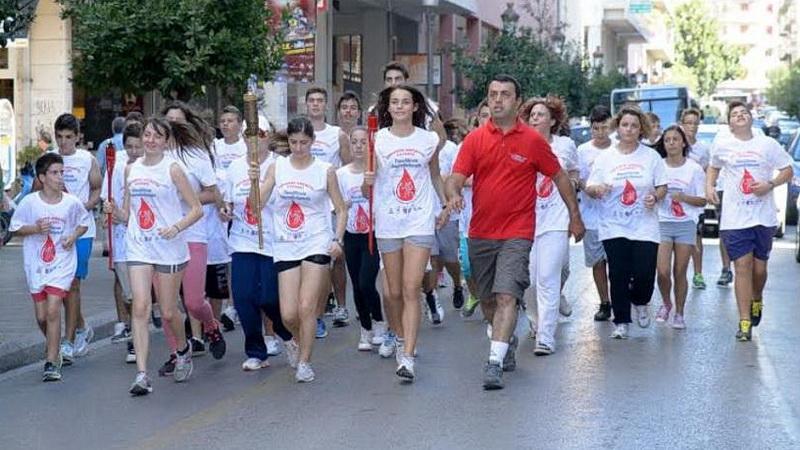 Η 15η Πανελλήνια Λαμπαδηδρομία Εθελοντών Αιμοδοτών στην Αλεξανδρούπολη