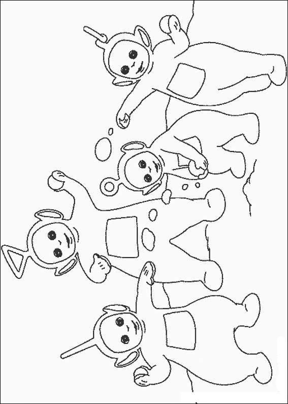 Kleurplaat Minnie En Mickey Mouse Teletubbies Drawings Coloring