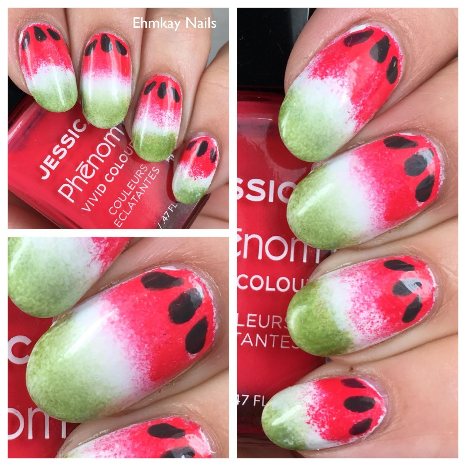 ehmkay nails: Watermelon Nail Art