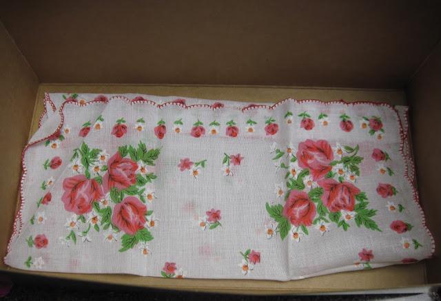 Handkerchief in an OCC shoebox.
