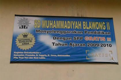 Profil Perpustakaan Sekolah SD MUHAMMADIYAH BLAWONG II, Desa TIMBULHARJO, Bantul Yogyakarta