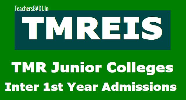 tmr junior colleges inter 1st year admissions 2019,tmreis inter 1st year admissions,ts minority welfare inter 1st year admissions,tmrjc inter 1st year admissions 2019