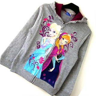 Jaket Frozen Untuk Anak Perempuan Cantik Warna Abu-Abu