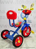 Sepeda Roda Tiga BMX PMB 920 Safari Musik Sandaran Blue Red