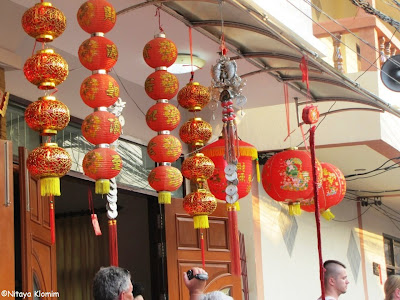 Chinese New Year in Maenam 2013, red lanterns