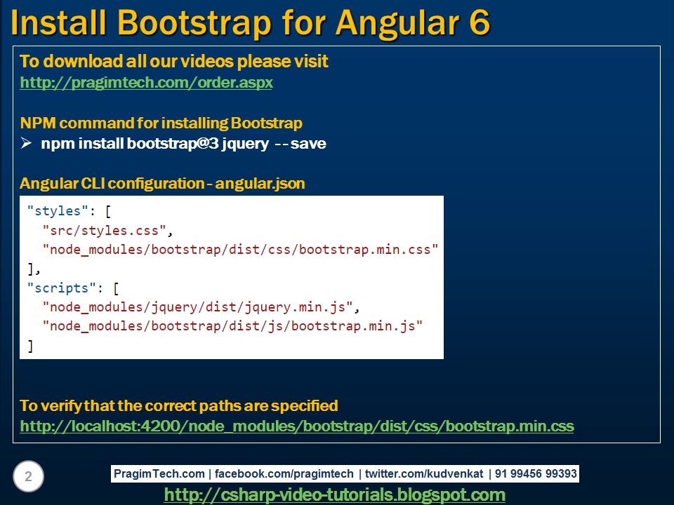 install bootstrap in angular 6 cli command