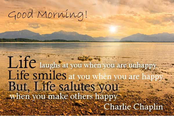 Good morning saying quote