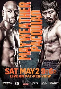 Pacquiao vs Mayweather fight poster