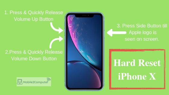 Hard reset and force restart iphone X