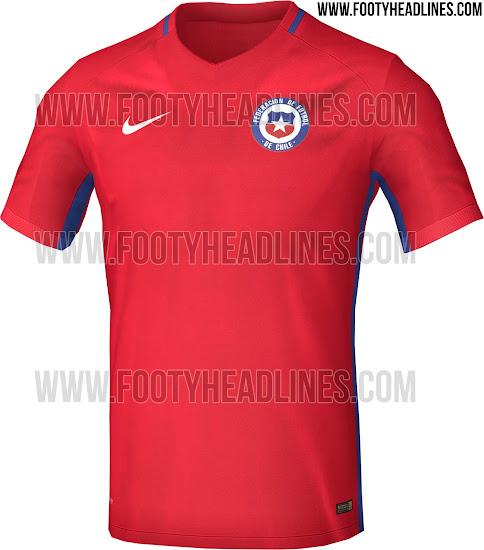 Nueva camiseta de Chile Copa América Centenario 2016