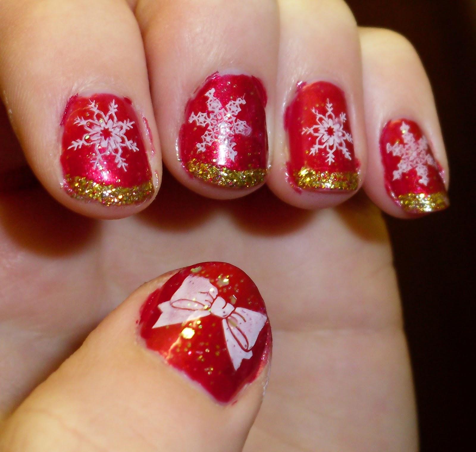 Lindchens World: [Nageldesign] Snow on Christmas