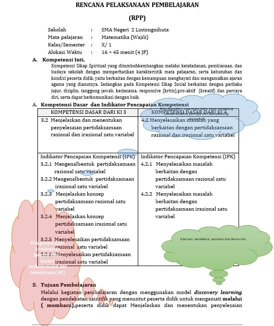 Rpp Matematika Kurikulum 2013 Untuk Sma Kelas X Rpp Matematika Sma Kurikulum 2013 Tempatnya