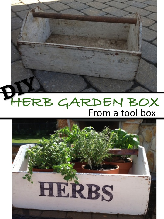 Two It Yourself DIY Herb Garden Box from an old toolbox Pottery – Herb Garden Box Plans