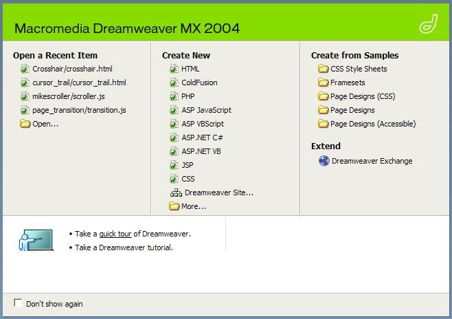 Free Download Macromedia Dreamweaver MX 2004 + Serial Number