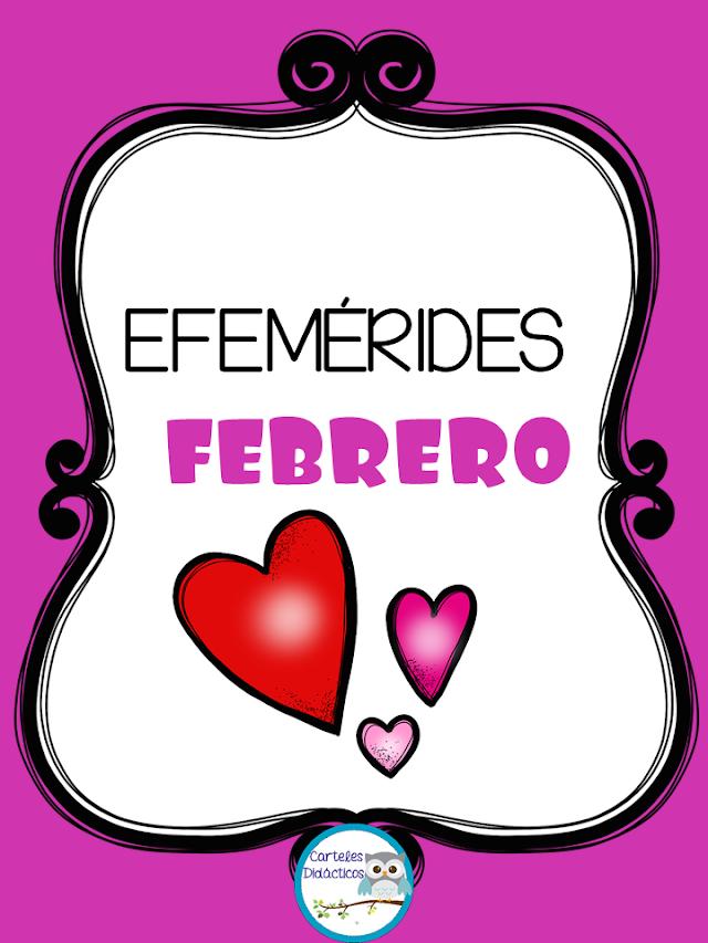 Efemérides del mes de Febrero imagenes