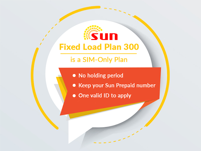Sun Fixed Load Plan 300 : Free Facebook and Viber + Unli Trinet Calls + Unli All Net Texts for 30 Days