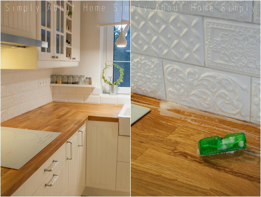 Simply About Home Jak Olejować Drewniany Blat Kuchenny