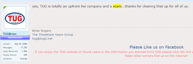 """Brian Rogers Sustains that TUG"""" is an UP-front Fee SCAM business"""