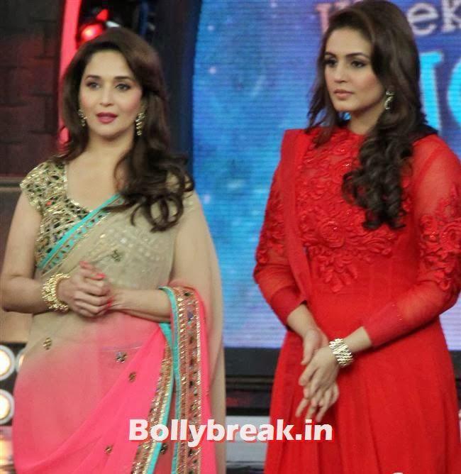 Madhuri Dixit and Huma Qureshi, Madhuri Dixit Huma Quershi promote Dedh Ishqiya on Bigg Boss 7