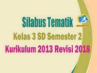 Silabus Tematik Kelas 3 SD Kurikulum 2013 Revisi 2018 Semester 2