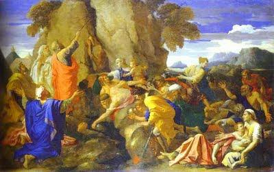 פרשת חוקת משה מוציא מים מהסלע