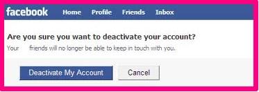 reason to deactivate facebook account
