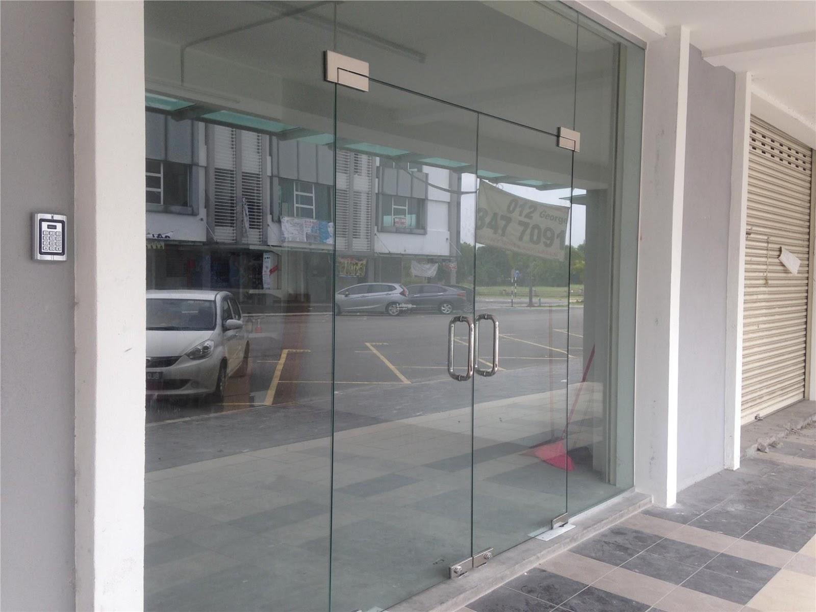 pintu kaca toko