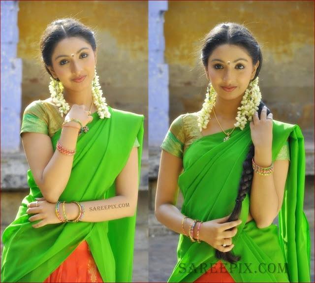 Malayalam Actress Uthra Unni Half Saree Pics