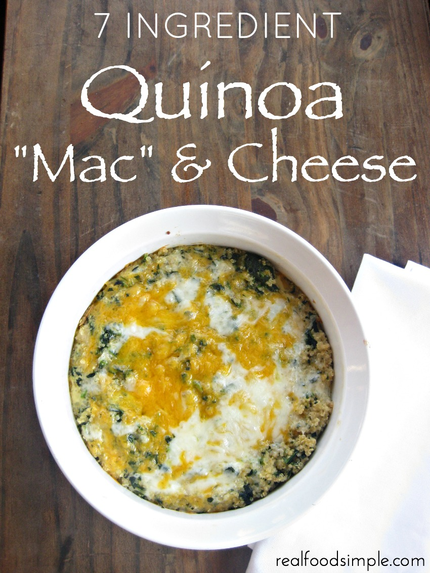 "7 ingredient quinoa ""mac"" and cheese 
