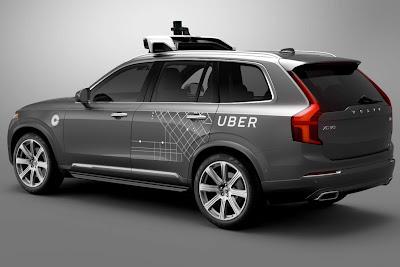 Uber Autonomous Driving on Volovo XC 90