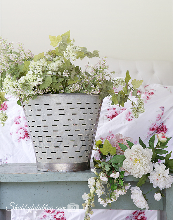 faux shabby chic flowers