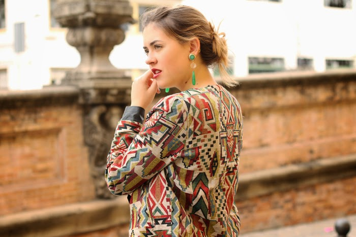 ethnic jacket and jumpsuit