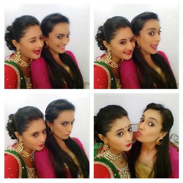 surbhi & rashmi 💕 cuties , friends , fun , love , q , q u boo lh ai , zee tv , sanam , seher , surbhi jyoti , rashmi desai , work , delhi , telly world , actresses , beaut ies ,