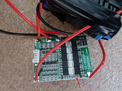 Placa controladora de carga da bateria