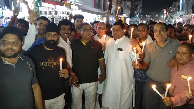 Candle March by the Dussehra Save Committee against the administration for delay in sanction of Dussehra festival