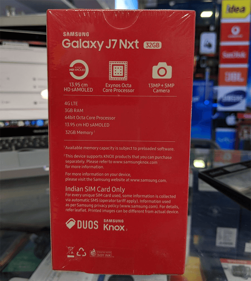 Samsung announces upgraded Galaxy J7 Nxt in India