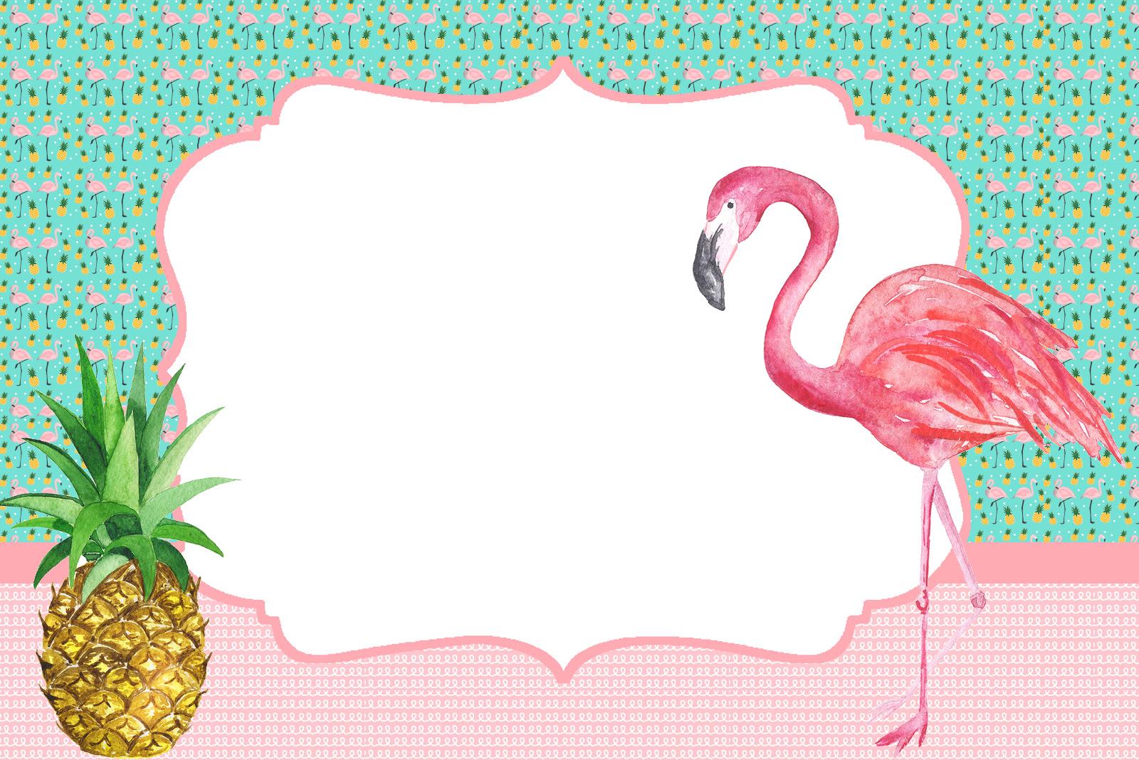 Convite No Tema Flamingo