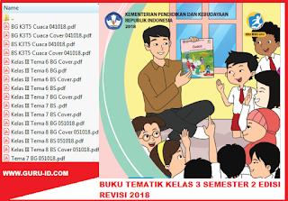 gambar buku tematik kelas 3 semester 2 edisi revisi 2018