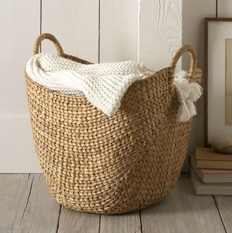 Shopping Bag Style Wicker Baskets with Handles