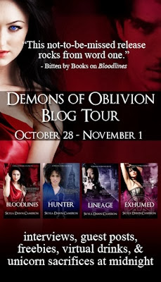 Guest Blog by Skyla Dawn Cameron - Demons of Oblivion Blog Tour - November 1, 2013