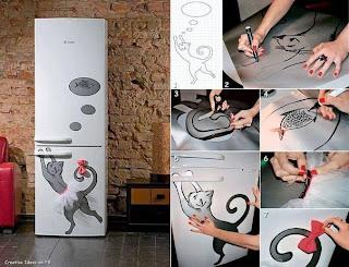 Buzdolabına Kedi Resmi Yapım