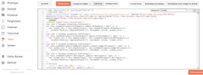 Edit HTML Blogspot