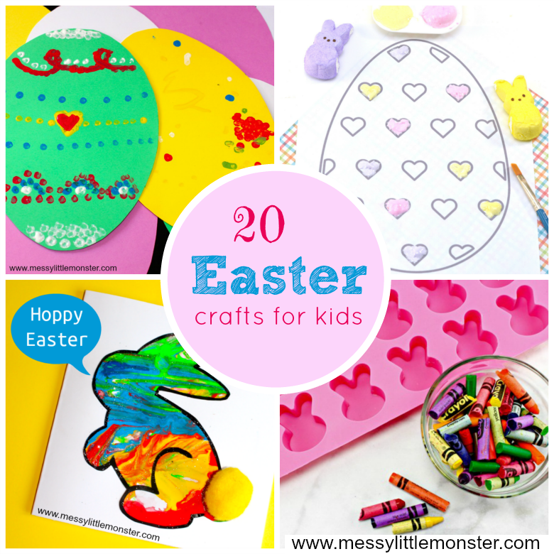 20 Easter Crafts And Activities Messy Little Monster