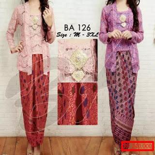 Model Rok Batik Untuk Kebaya Pesta