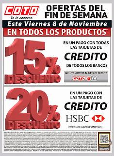 38e23a539 Promoción de Coto para este viernes: 15% de descuento en todos los  productos en un pago con todas las tarjetas de crédito de TODOS LOS BANCOS,  ...